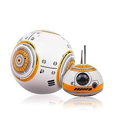 Pinjeer Star Wars BB-8 RC Robot Star Wars BB-8 2.4GHz Remote Control Figure Robot Action Robot Sound Intelligent Toys Car for Kids 3+: Home & Kitchen