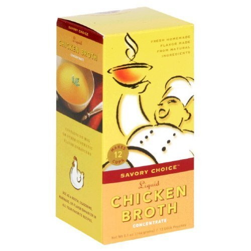Savory Choice Liquid Concentrate Chicken Broth, 12 Stick Pouches (Pack of 12) (Savory Choice Chicken Broth compare prices)