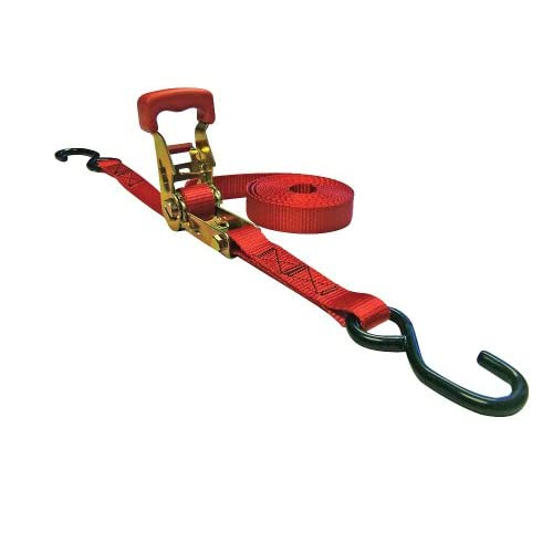 """Nice Erickson 05519 Red 1"""" x 6' Deluxe Rubber Handle Ratcheting Tie-Down Strap, (Pack of 4) free shipping"""