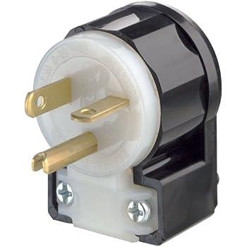 Leviton 5366-CA 20 Amp, 125 Volt, Straight Blade, Plug, Industrial ...