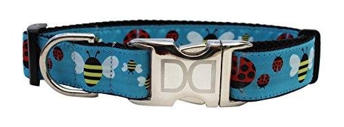 Diva-Dog Lady Bugs Dog Collar, Teacup