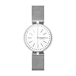 Skagen Connected Women's Signatur T-Bar Stainless Steel Mesh Hybrid Smartwatch, Color: Silver (Model: SKT1400)
