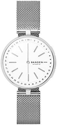 Skagen Connected Women's Signatur T-Bar Stainless Steel Mesh Hybrid Smartwatch, Color: Silver (Model: SKT1400) 1