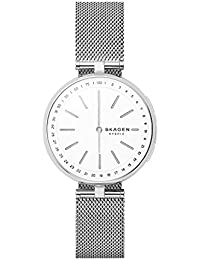 Women's Signatur T-Bar Stainless Steel Mesh Hybrid Smartwatch, Color: Silver-Tone SKT1400