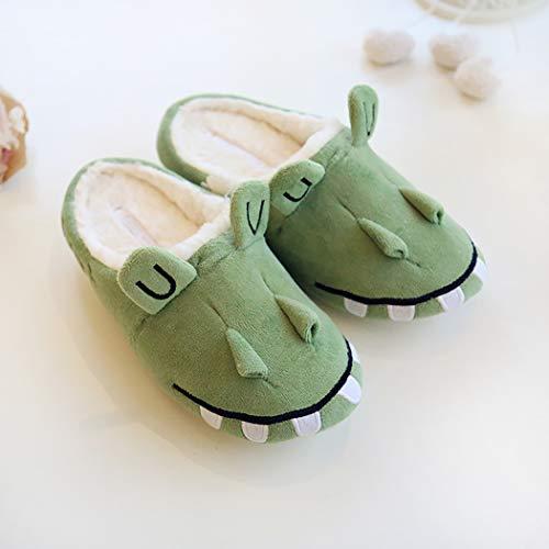 Zoylink Cute House Slip Celadon Unisex On Slippers Slippers Cartoon Crocodile Slippers M rq6Xr