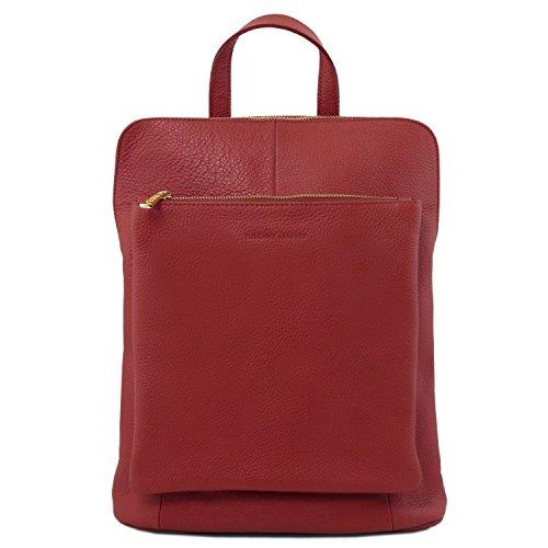 TL141682 Rouge Bag pour Femme Rouge Cuir Souple TL Tuscany à en Dos Sac Leather PC4wOa