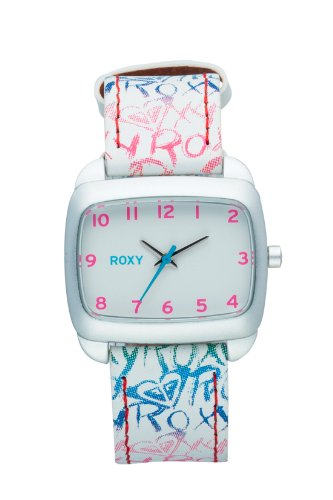 Roxy W177BLEWHT57T - Reloj analógico de cuarzo para niña con correa de piel, color multicolor: Amazon.es: Relojes