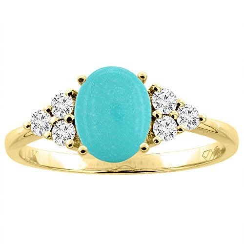 natural turquoise ring - 8