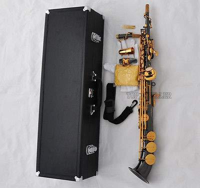 FidgetGear Pro Soprano saxophone Saxello Sax Black Nickel Gold Bb High F# G Key Curved bell from FidgetGear