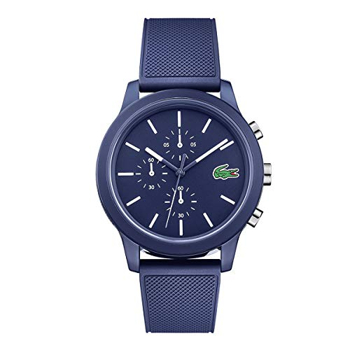 Lacoste Men's 40mm Blue Silicone Band Steel Case Quartz Analog Watch 2010970