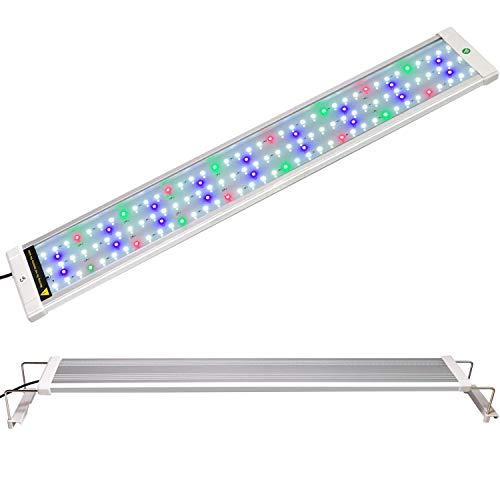 (COODIA Full Spectrum Aquarium Light Fish Tank Light High Illumination Multi-Color LED RGB Plant Lamp, with Night Mode (Fits 28-36