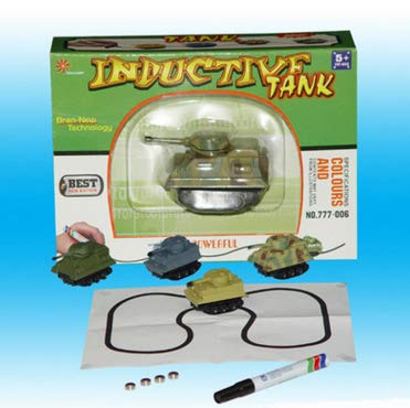 (Inductive Car Diecast Vehicle Magic Pen Toy Tank Random Enginering Car Follow The Lines You Draw Xmas Gifts for Kid)