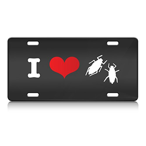 i-love-aphids-animal-animals-metal-license-plate-frame-bl