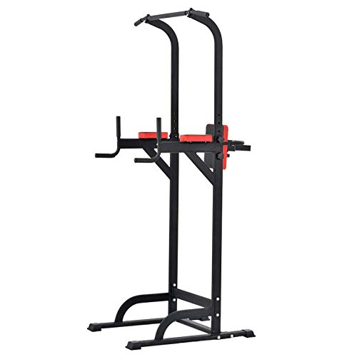 Pull Up Fitness - Barre de Traction avec Chaise Romaine, Noir/Rouge product image