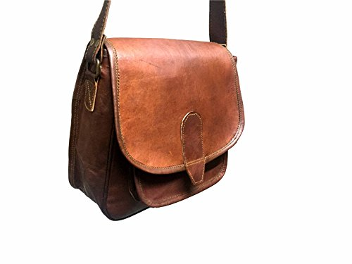 Real Vision Made 9inch Handmade Genuine Leather CrossBody Bag Tote Bag Hobos Gift