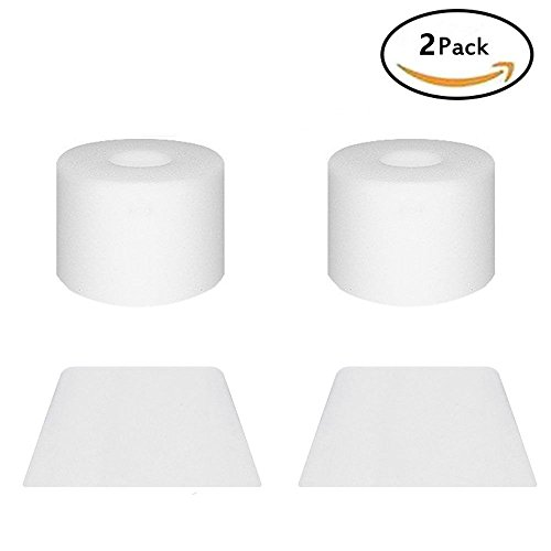 2Pcs vacuums replacement parts Filters for Shark IONFlex, Shark IF Foam & Felt Filter Replacement campare to part# XPREMF100 & XPSTMF100, 2 Foam Pre-Motor Filters & 2 Felt Post-Motor Filters