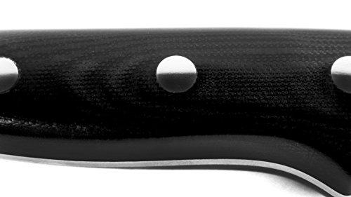 Nexus BD1N 6.5'' Nakiri Knife with Hollow Edge, 63 Rockwell Hardness, American Stainless Steel, G10 Handle - Japanese Vegetable Slicing Knife by Nexus (Image #6)