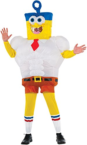 Spongebob Costumes Adult (Rubie's Costume Co Men's SpongeBob Movie Inflatable SpongeBob Costume, Multi, Standard)