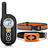 OMORC Dog Training Collar, 2019 Remote Control Dog Shock Collar Up to 1000Ft Range, 100% Water-Resistant, E-Collar 3 Modes, Shock, Vibration and Beep, 2 Replaceable Collars