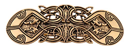 VASSAGO Antique Retro Harmony Celtic Irish Knot Trinity Triquetra Hairclip Barrette Hairpin Ponytail Holder for Women Girls (Antique Gold 5)
