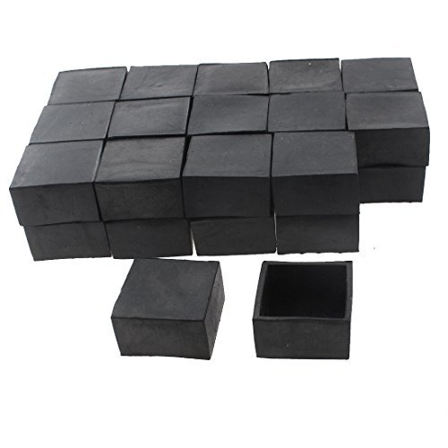 Amazon.com: Silla Tabla eDealMax Plaza Muebles cubierta del casquillo de Pie DE 40 mm x 40 mm 30pcs Negro: Kitchen & Dining