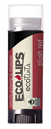 Eco Lips: Eco Tints Lip Balm, Plush Red 0.15 oz