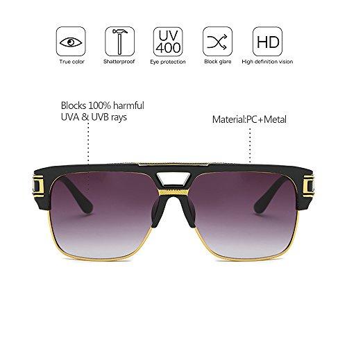 Femmes à 03 Soleil chaud Salable Vintage UV400 Protection Style ZEVONDA Extérieur Métal De Hommes Cadre Lunettes Personnalité Unisexe wIpBWWfq4x