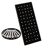Lisli® 60x Rhinestone Stainless Steel Crystal Nose Ring Bone Stud Body Piercing Jewelry (Mixed Color)
