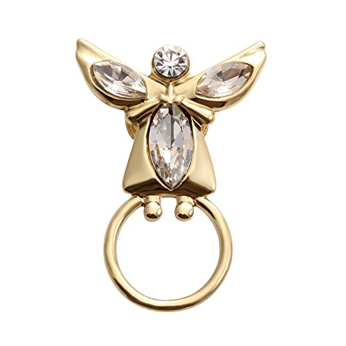 SENFAI Angel Girl Magnetic Eyeglass Holder Brooch for Mother (Rhinestone Eyes Brooch)