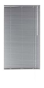 Blindecor 2101 Veneciana De Aluminio, Metal, Plata, 120x250 cm