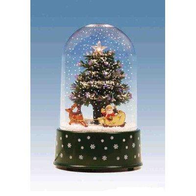 Northlight 11.75'' Pre-Lit Musical and Animated Christmas Tree Snow Globe Glitterdome