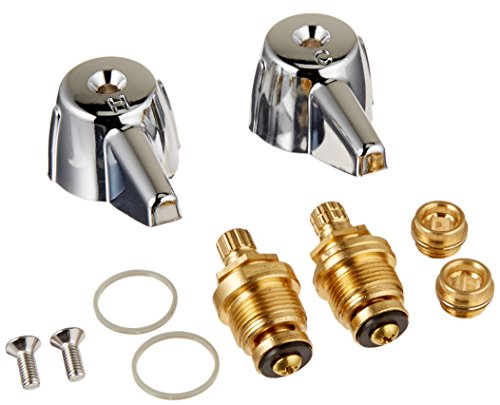 Danco 39674E 2-Handle Lavatory Faucet Trim Kit for Central Brass with Stems and Seats, Chrome