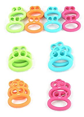 MAXSOINS Set Hand Gripper Grip Silicone Ring Resistance Strength Trainer Exerciser