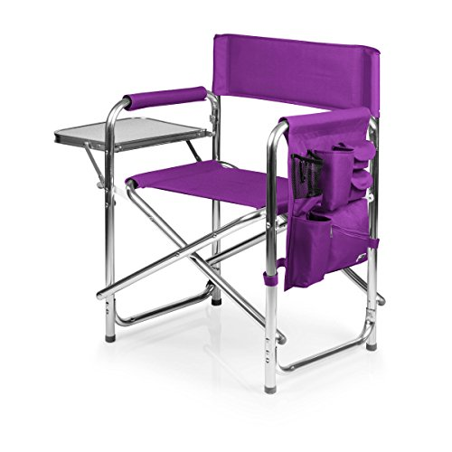 Picnic Time Portable Folding Sports Chair, Purple