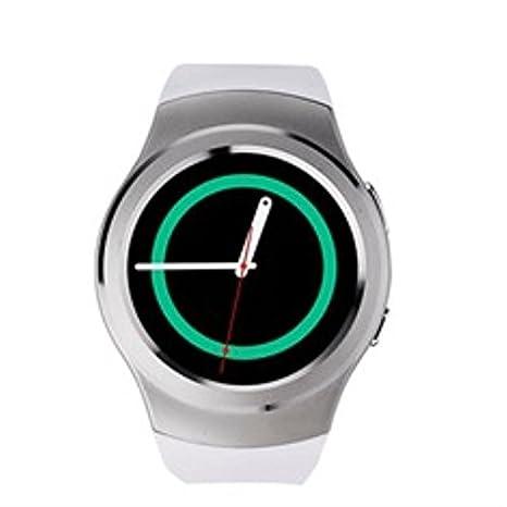 Swiss-pro - Reloj Inteligente Vernier smartwatch Blanco BT 4.0 / Tarjeta sim/pulsometro/podometro
