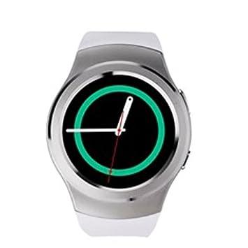 Swiss-pro - Reloj Inteligente Vernier smartwatch Blanco BT 4.0 / Tarjeta sim/pulsometro/ podometro: Amazon.es: Informática