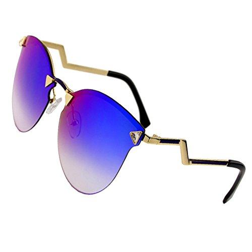 Sumery Women Luxury Fashion Design Arm Rimless Sunglasses UV Protect (Gold, - Goggles Swimming Wiki