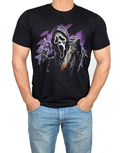 Ghost Face Mask Mens Shirt - Adult Horror Graphic Tees (XS) ()