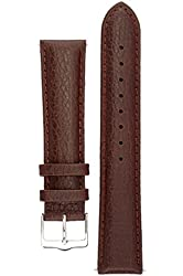 Signature Buffalo watch band. Replacement watch strap. Genuine Leather. Silver buckle
