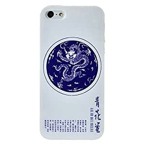 HP Porcelain Style Dragon Pattern Vase TPU Soft Case for iPhone 5/5S