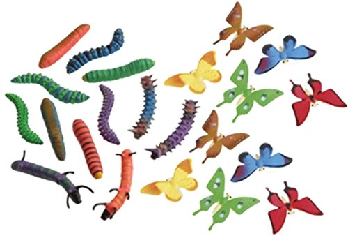 Beautiful Butterfly and Caterpillar Figure Toys- Set of 24