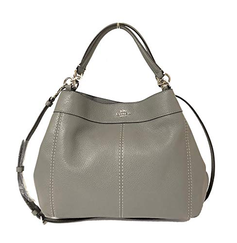 Coach Pebbled Leather Small Lexy Shoulder Bag Handbag (SV/Heather - Coach Pebbled