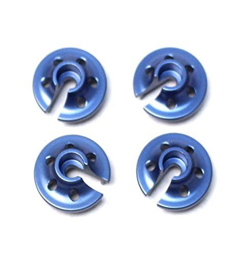 (ST Racing Concepts ST3768B CNC Machined Light Weight Aluminum Lower Shock Retainers (4), for Traxxas 4Tec 2.0, Blue)