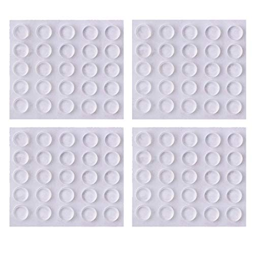 Clear Rubber Bumpers Pads, 100 Pcs Self Adhesive Transparent Bumper Buffer Pads for Cabinet Doors, Drawers, Glass Tops, Picture Frames, Laptop, Ashtray Sound Dampening Foot Pad
