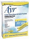 neti pot saline solution - Ayr Saline Nasal Rinse Kit Refill Packets, 100 Count