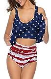 SouqFone Tummy Control 2 Peice Swimsuit Womens