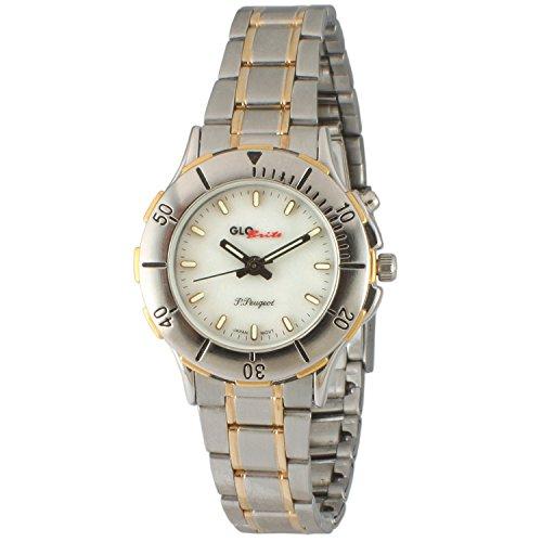 Peugeot Womens Glow in The Dark Two Tone Bracelet Watch