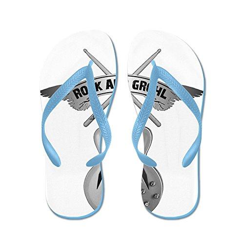 Cafepress Rock Och Grohl - Flip Flops, Roliga Rem Sandaler, Strand Sandaler Caribbean Blue