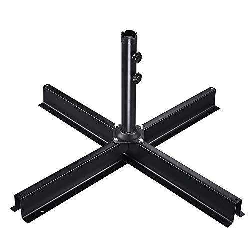(Yescom Patio Umbrella Base Stand Outdoor Garden Offset Umbrella Metal Frame Non-Weighted Used with Pavers)