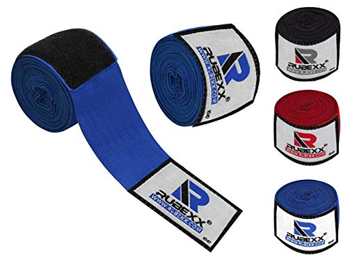 "Hand wraps boxing Inner Gloves for Punching - Great Protection for MMA, Muay Thai, Kickboxing, Martial Arts Training & Combat Sports – 180 "" inch Elasticated Bandages Under Mitts (Blue, Blue-180-inch)"